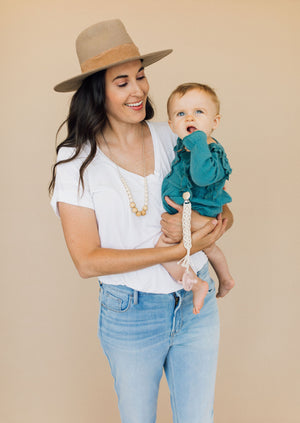 The Landon- Cream Teething Necklace