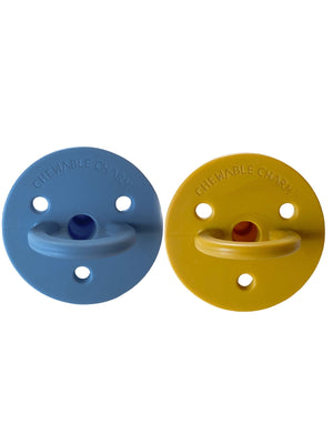 Load image into Gallery viewer, 2 pack Pacifiers | River + Golden Sun