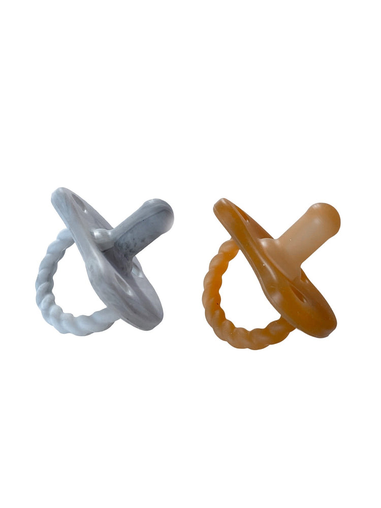 Load image into Gallery viewer, 2 Pack Pacifier Twist | Howlite + Natural