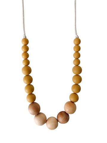 The Landon- Mustard Yellow Teething Necklace