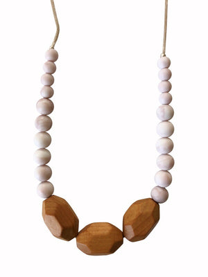 Load image into Gallery viewer, The Austin- Rose Quartz Teething Necklace