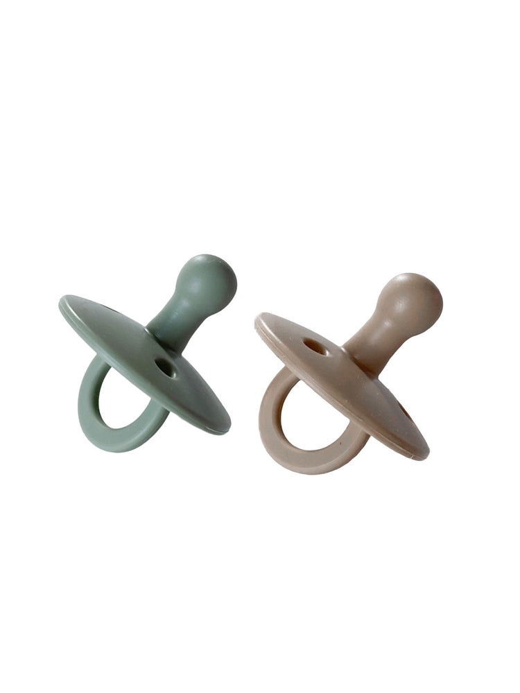 2 pack Pacifiers | Sage + Almond