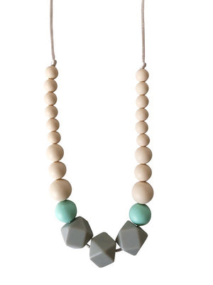 The Lacey- Gray Teething Necklace