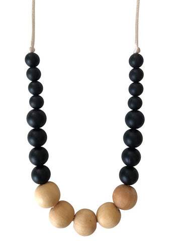 The Landon- Black Teething Necklace