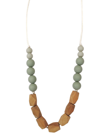 The Harrison Teething Necklace- Succulent