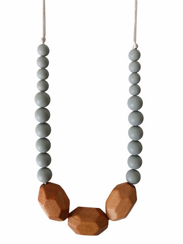 The Austin- Grey Teething Necklace