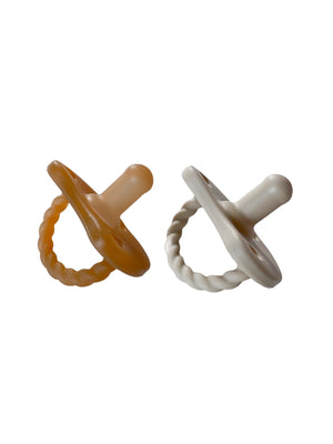 2 Pack Pacifier Twist | Natural + Oat