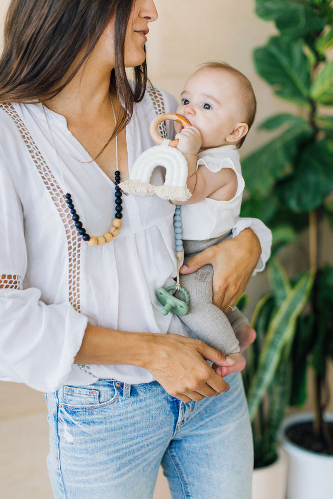 Load image into Gallery viewer, Crew Pacifier Clip - Mist Grey