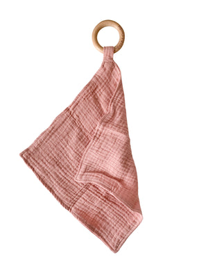 Load image into Gallery viewer, Muslin Teething Ring- Blush