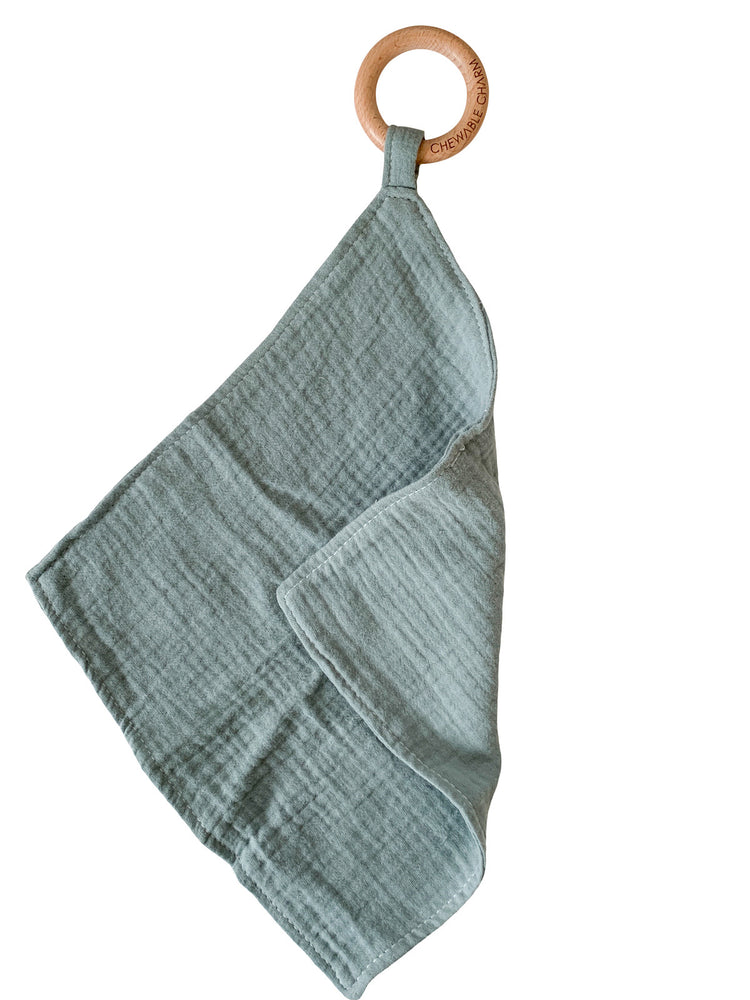 Muslin Teething Ring- Sage