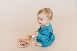Hayes Silicone + Wood Teether Toy-Howlite
