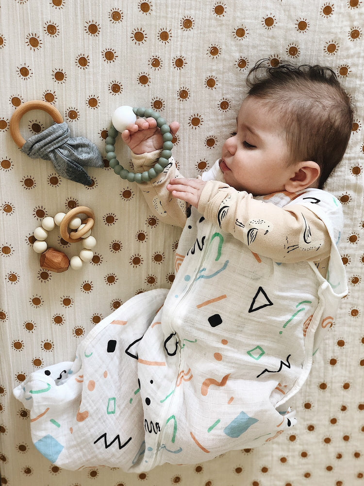 Load image into Gallery viewer, Crinkle Bunny Ears Teether- Grey