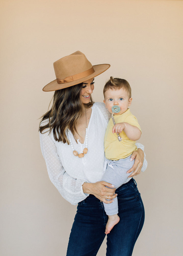 The Austin- Cream Teething Necklace