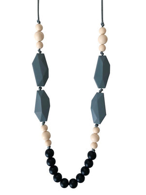 The Nathan- Black Teething Necklace