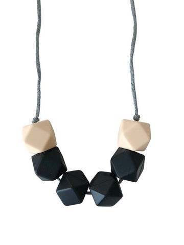 The Jameson- Black Teething Necklace
