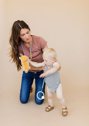Load image into Gallery viewer, The Landon- Grey Teething Necklace