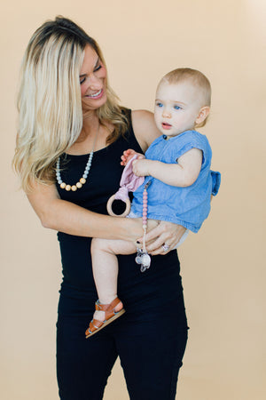 The Landon- Grey Teething Necklace