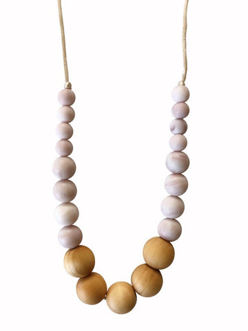 The Landon- Rose Quartz Teething Necklace