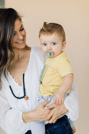 Load image into Gallery viewer, The Collins- Black Teething Necklace