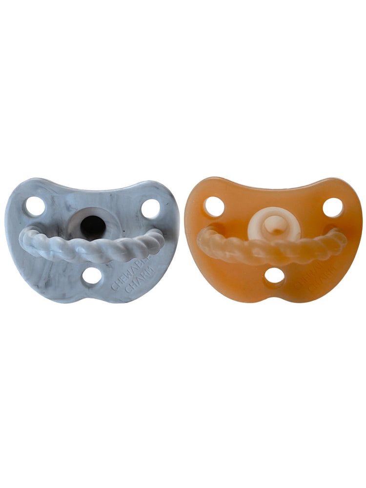2 Pack Pacifier Twist | Howlite + Natural