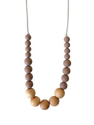 Load image into Gallery viewer, The Landon- Desert Taupe Teething Necklace