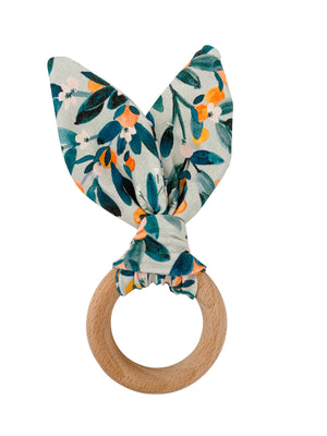 Crinkle Bunny Ears Teether- Citrus