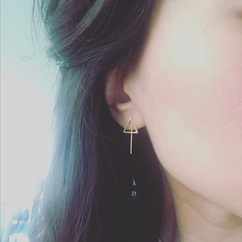 Triangle Stick Earrings