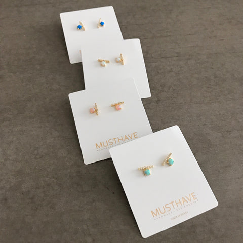 Opal: Stick Earrings