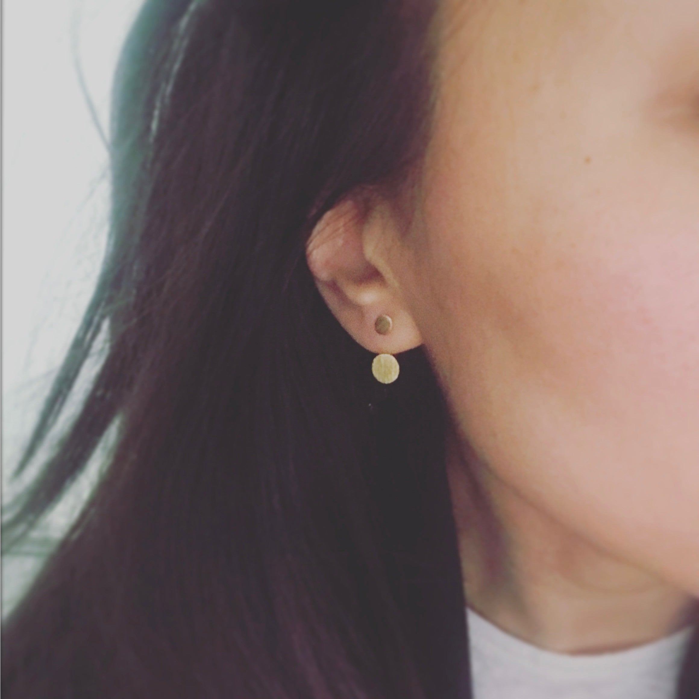 Front to Back: Double Disc Earrings