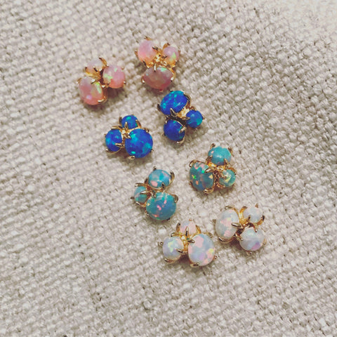 Opal: Cluster Earrings