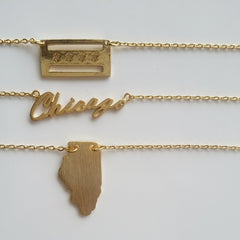 Chicago (script) Necklace