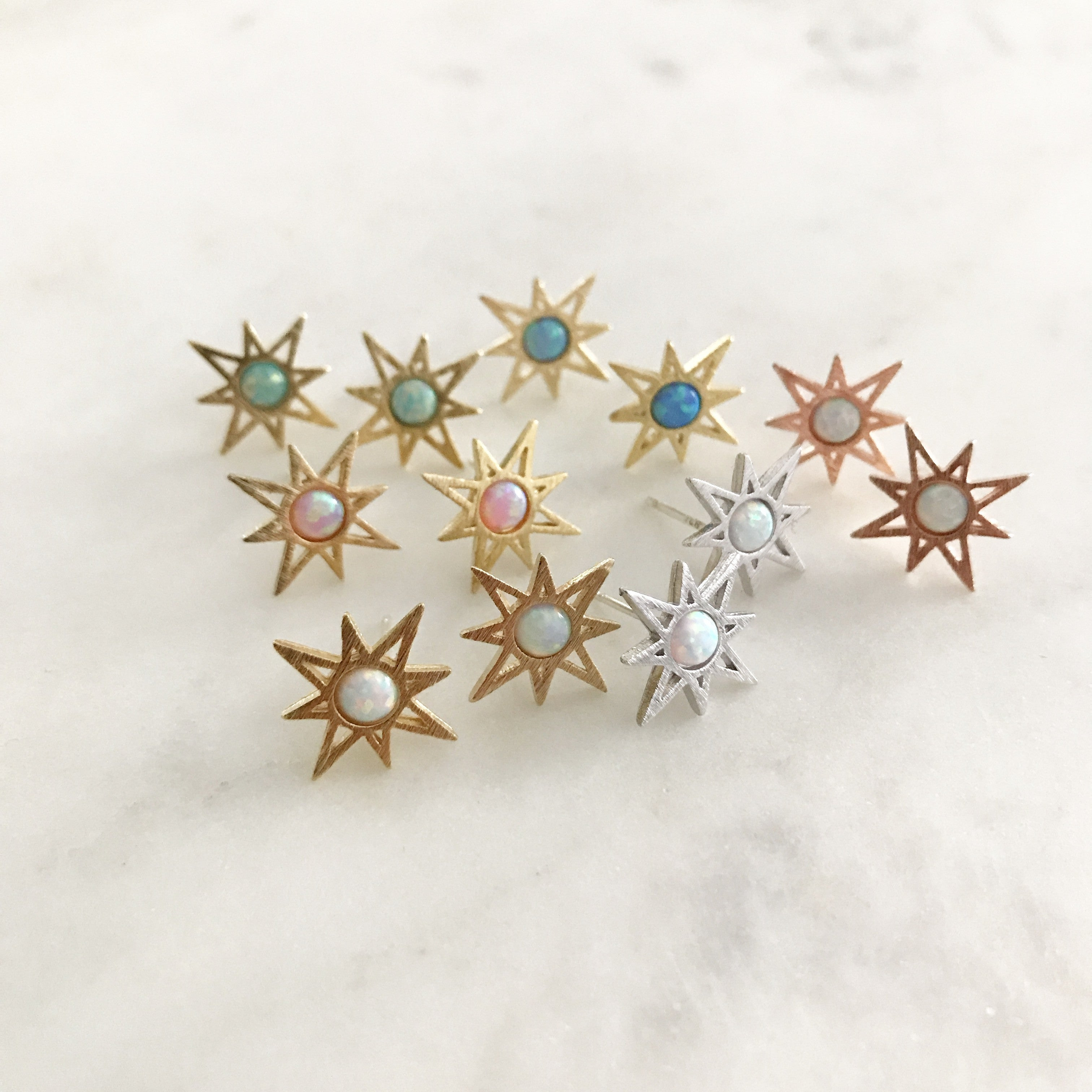 Opal: Sunburst Earrings
