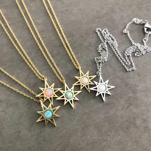 Opal: Sunburst Necklace