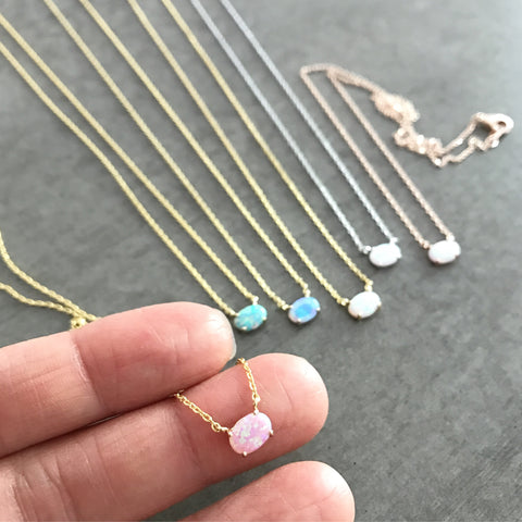 Opal: Oval Necklace