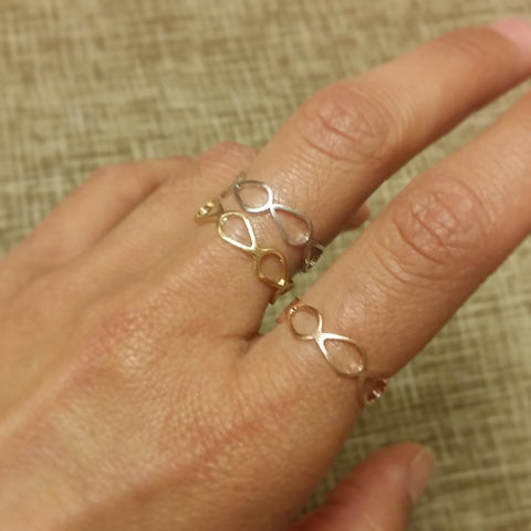 Open Almond Band Ring