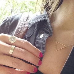 Oversized Triangle Necklace