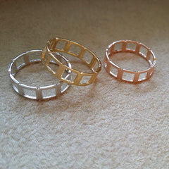 Open Square Band Ring