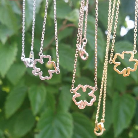 Clover / Shamrock (Open) Necklace