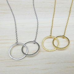 Eternity Double Ring Necklace