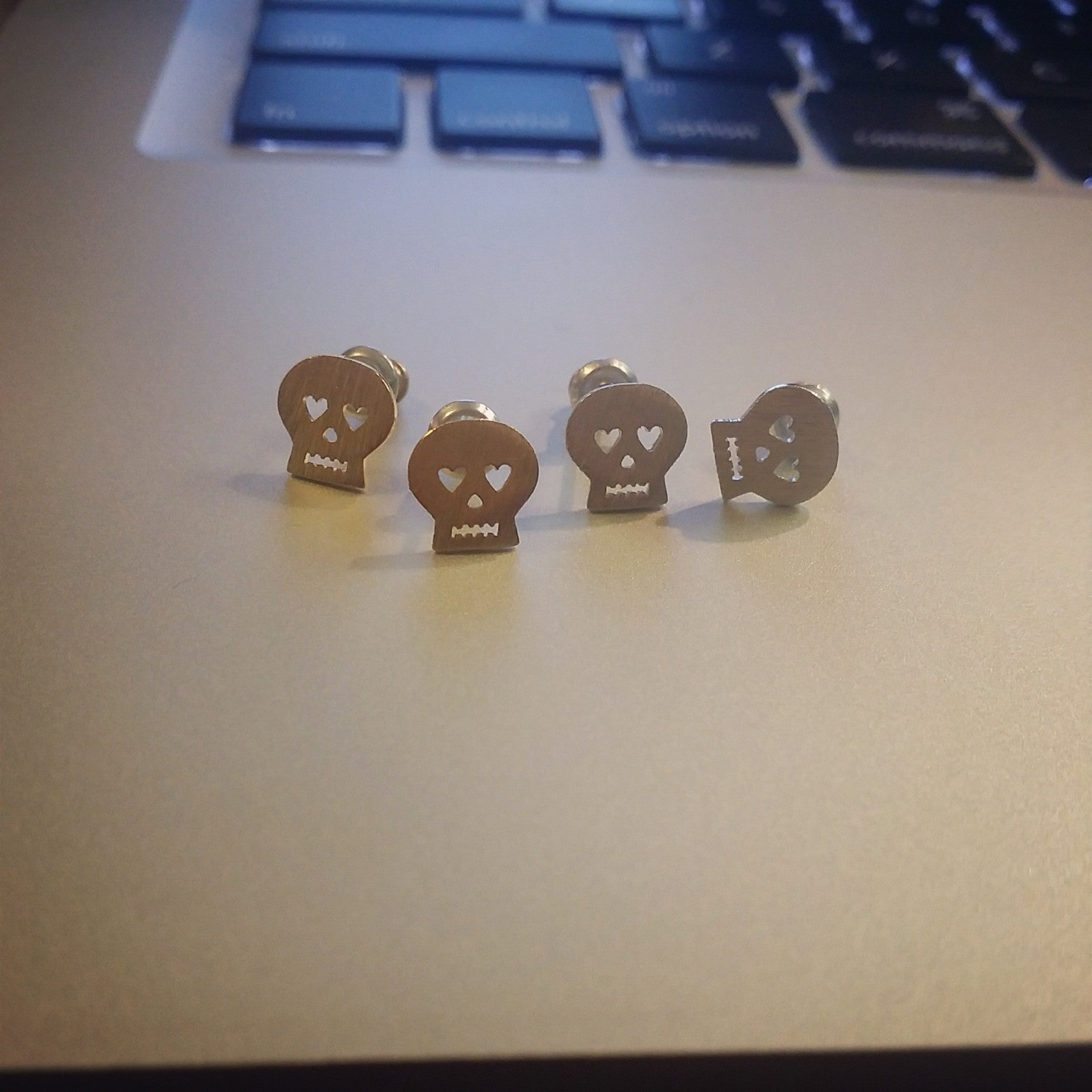 Itty Bitty Skull Earrings