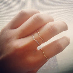 Chevron V-Stack Ring