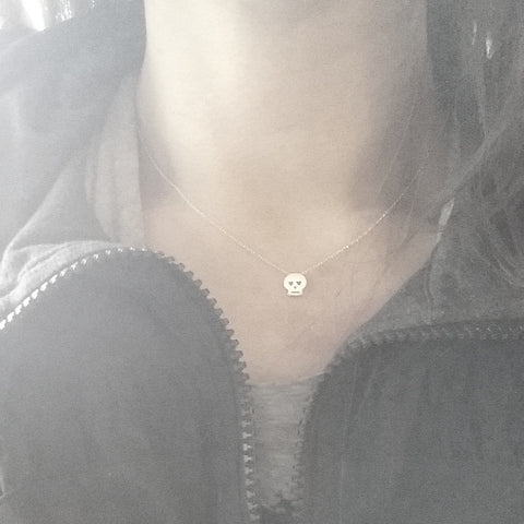 Itty Bitty Skull Necklace