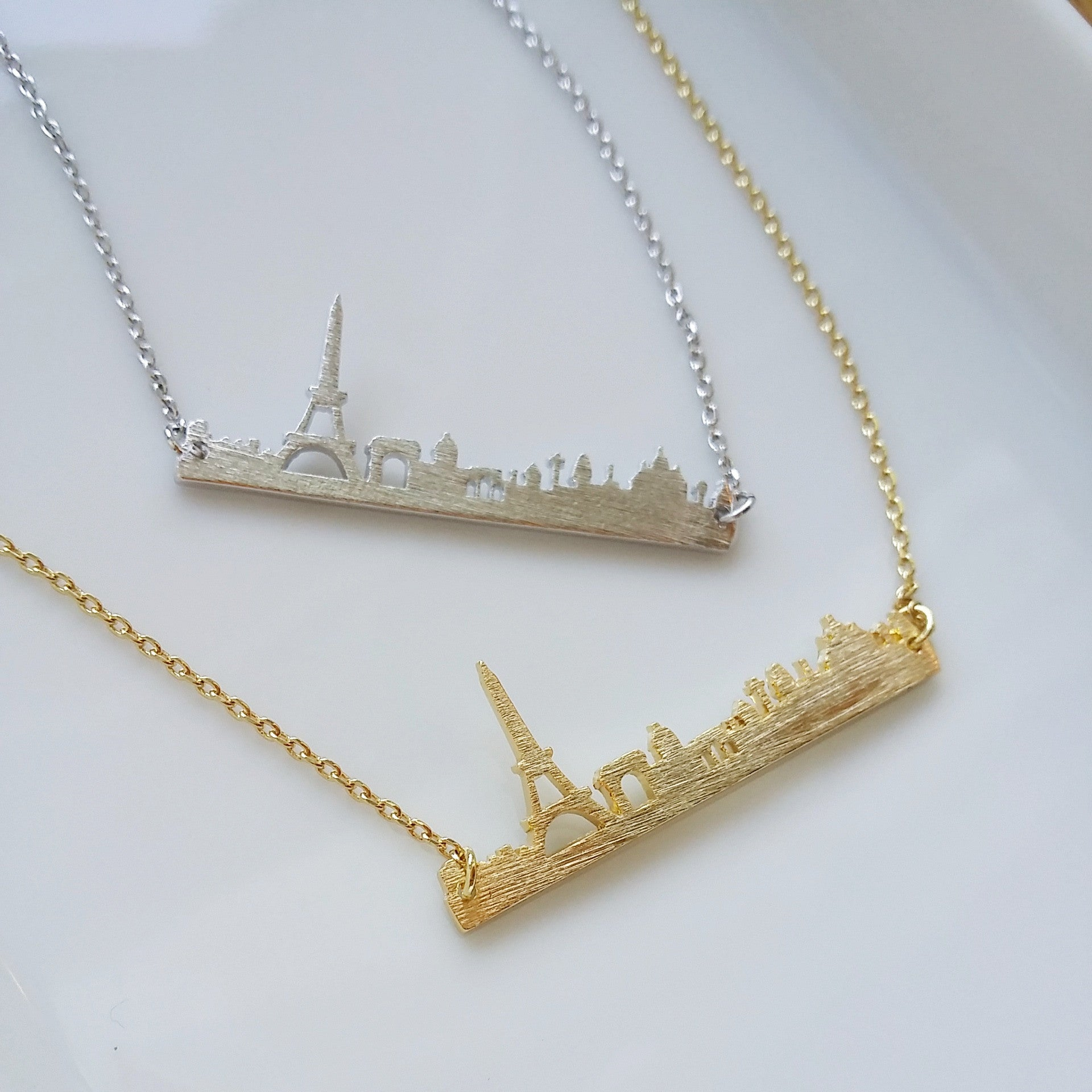 Paris Skyline Necklace