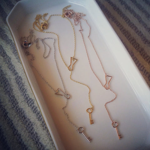Lock & Key Lariat Necklace
