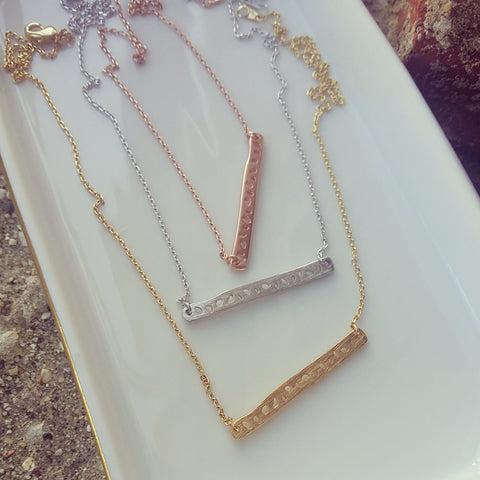Spotted Bar Necklace