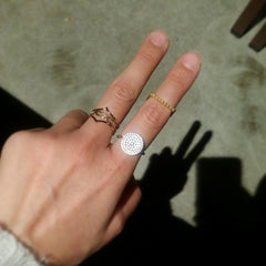 Flawless Disc Ring