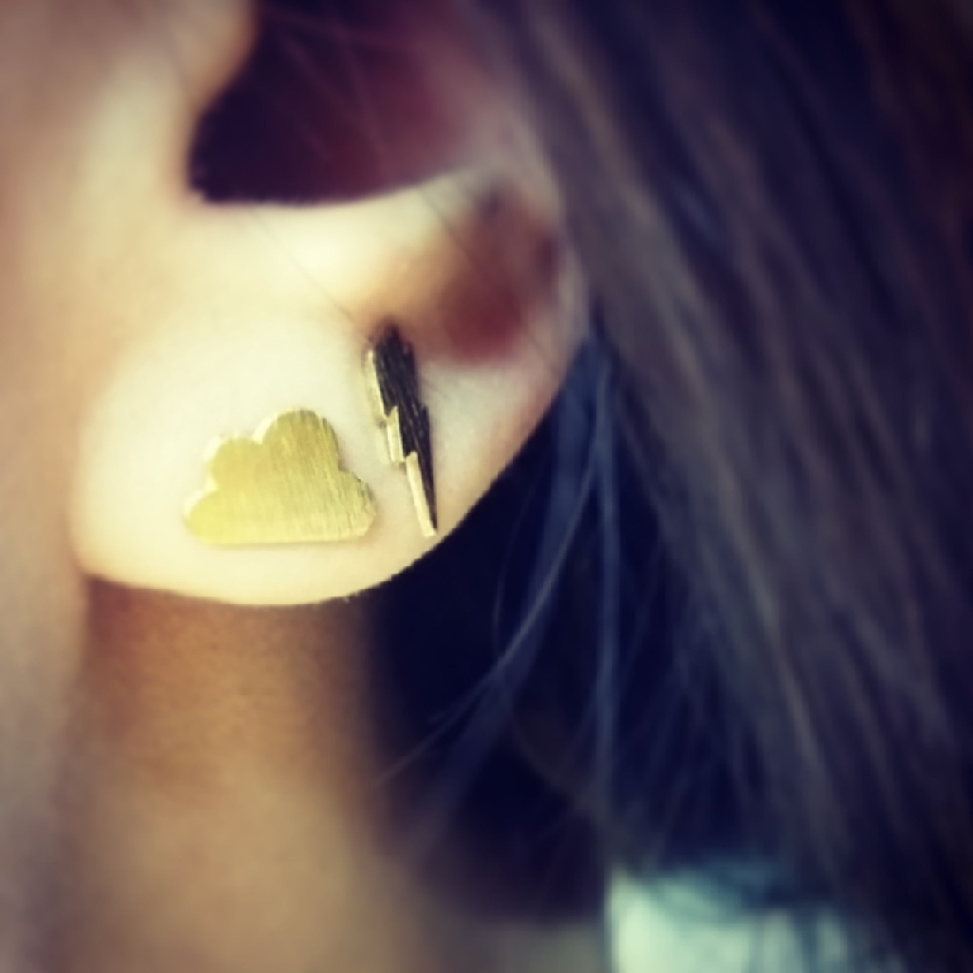 Cloud & Thunderbolt Earrings