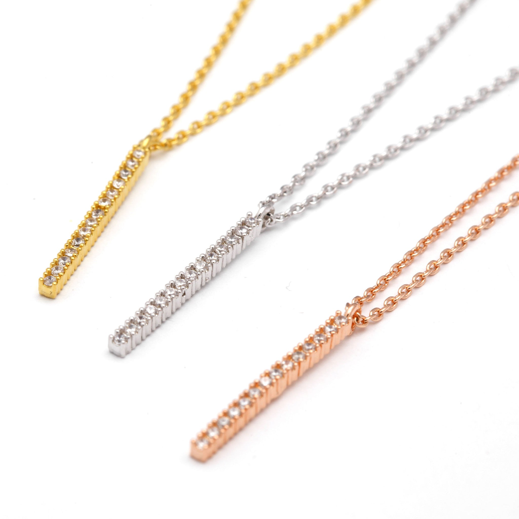 Vertical Bling Bar Necklace