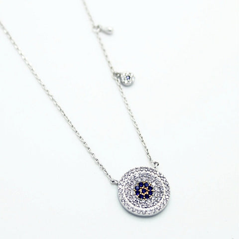 Flawless Disc Necklace - Evil Eye