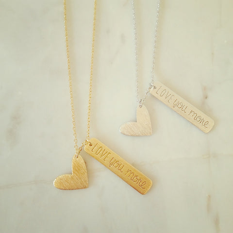 LOVE you more (Charm) Necklace